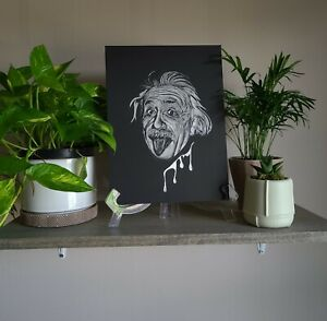 Albert Einstein Original Scratch Drawing