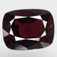 2.58 Ct Natural Pinkish Red Spinel Burma ( Mogok ) Unheated Cushion Gemstone