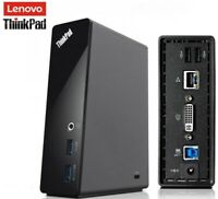 Lenovo ThinkPad USB 3.0 Docking Station - (DL3700-ESS) with DVI to VGA Adapter