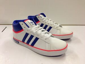 ADIDAS VC 600 Mens Mid Boots  WHITE/BLUE/RED Q34229 SIZE UK 4.5