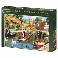 A Busy Time on the Canal 11107 Jumbo Falcon Puzzle 1000 Teile NEU OVP