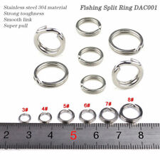 New Lot 100pc Fishing Split Ring Silvery Stainless steel Double Loop Split 5#-