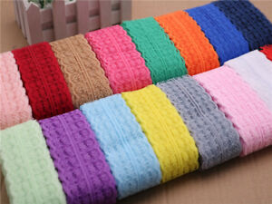 Beautiful embroidered lace ribbon Bilateral 10yards 17 Colors free shipping