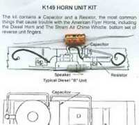 HORN SERVICE KIT for American Flyer STEAM DIESEL ENGINES S Gauge Scale Trains