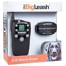 Big Leash S15 Dog Training Collar Vibration Tone Firefly Night Light LCD Walking