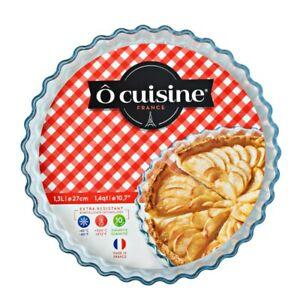 ô cuisine France  Moule à Tarte en verre Diametre 27 cm 1,3 litres