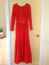 Red lace Open Back Evening/Formal Dress