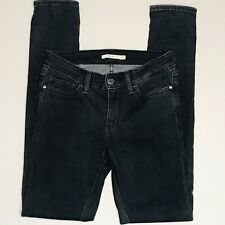 LEVI'S 711 Skinny Charcoal Gray Black Jeans Womens Size 27