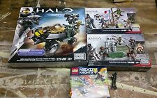 Mega blocks lot, Halo. Assassin creed.