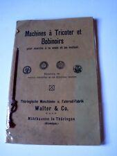Catalogue Machines à tricoter et bobinoirs Walter & Co Mühlhausen in Thüringen