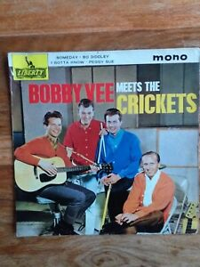 """Bobby Vee and the Crickets 7"""" EP Includes 'Peggy Sue'. Good condition"""