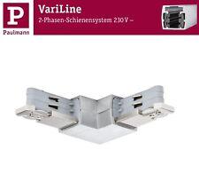 Paulmann VariLine L Connector für 2 Phasen Schienen Alu gebürstet 2x2000W
