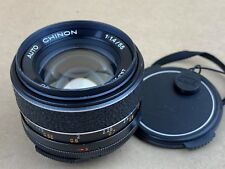 Auto Chinon MF 55mm f/1.4 M42 Screw Mount Lens - Works Great