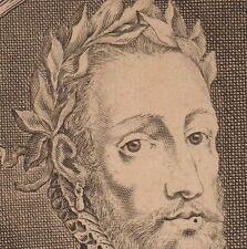 Portrait XVIIe Henri II Roi de France gravé par Nicolas de Larmessin