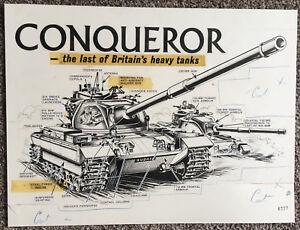 Original Artwork for Lion, Cutaway of Conqueror Tank