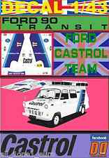 DECAL 1/43 FORD TRANSIT ASSISTANCE FORD CASTROL TEAM (01)