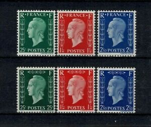 """FRANCE STAMP N° 701A / 701F """" MARIANNE DULAC SERIE 6 TIMBRES"""" NEUFS xx LUXE W069"""