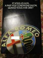 CATALOGUE AUTO : ALFA ROMEO GAMME ANNEES 80