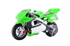 Motorcycle for Kids Green Pocket Bike Mini Gas Powered 40CC Ride On Boys Girls