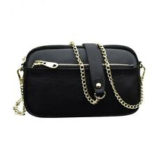 Casual Women Small Chain Crossbody Bags Genuine Leather Lady Luxury Shoulder Bag