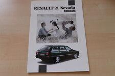 89461) Renault R 21 Nevada Beverly Prospekt 02/1992
