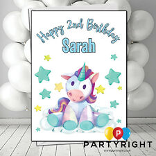 Personalised Unicorn Stars Child Adults Kids Any Age  Birthday Card