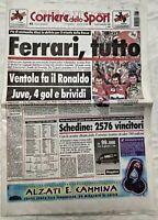 CORRIERE DELLO SPORT 14 SETTEMBRE 1998 SCHUMACHER VINCE GP D'ITALIA A MONZA
