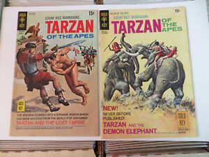 TARZAN #194 & 197 - 2 BOOK LOT - LEOPARD GIRL STORY ! - 1970 - GOLD KEY COMICS