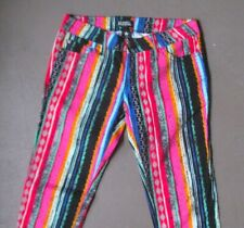 Women's Celebrity Pink Jeans multi-colored stretch jeans size 1