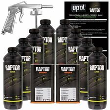 U-POL Raptor Black Urethane Spray-On Truck Bed Liner Kit w/ FREE Spray Gun, 8 Li