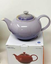 Le Creuset Provence Blue Bell Purple Classic Teapot NIB Stoneware