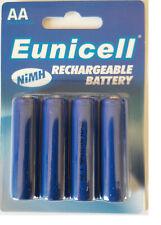 😊 EUNICELL Lot 4 piles  rechargeables AA - LR06 - LR6 1,2 volt 1200 mAh