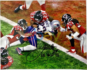 James White Patriots Autographed Signed 8x10 Photo Super Bowl LI Inscribed repri