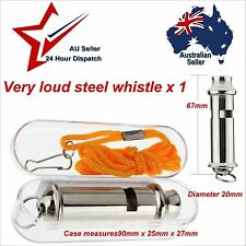 Emergency Police Style Security Survival Metal Whistle with Case Walking Hiking