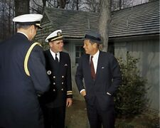President John F. Kennedy wearing hat at Camp David April 1961 New 8x10 Photo