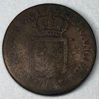 Sol  À L'écu 1791A Louis XVI N9