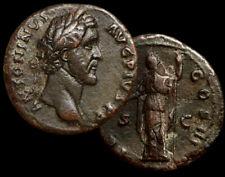"""Antoninus PIUS, Roman Emperor 138-161 AD. """"CLEMENTIA Reverse"""" Bronze AE + COA"""
