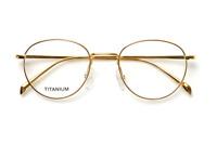 Retro Round pure Titanium Eyeglasses Frame mens gold oval Spectacles Rx glasses
