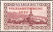 MH 1934 SAARGEBIET Germany 50 Cents VOLKSABSTIMMUNG 1935 Stamp LOCAL MOTIFS