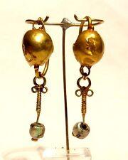 BOUCLES D'OREILLE ROMAINE EN OR 1° S. AP JC - 100 AD ANCIENT ROMAN GOLD EARRINGS