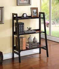 Leaning Bookshelf Small Bookcase Wood Cherry Entry Hallway Bedroom Furniture New