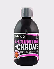 Biotech USA L-Carnitine + Chrome 500ml Liquid  orange  free P&P