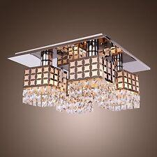 Modren Crystal Chandelier Ceiling Lamp Pendant Modern Comtemporary w/4 Lights