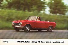 Peugeot 204 de luxe cabriolet & de luxe coupe 1968 brochure.