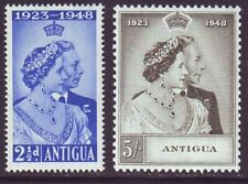 Antigua 1948 SC 98-99 MNH Set Silver Wedding