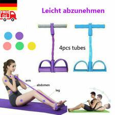 Fußpedal 4-Rohr-Zugseil Widerstandsband Yoga-Übung Sit-up Fitnessgeräte Bauch22