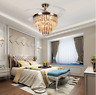 """42"""" Modern LED Invisible Fan Ceiling Lamp Remote Control Crystal Chandelier"""