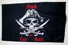 Fish Or Cut Bait Pirate Flag 3' X 5' Indoor Outdoor Buccaneer Banner