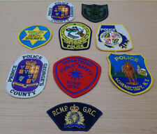 Vintage Obsolete LOT OF 9 DIFFERENT POLICE PATCHES