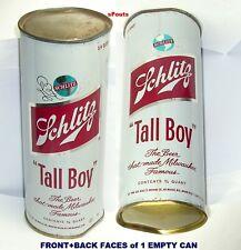 1969 Flat Top 24oz Schlitz Tall Boy Beer Can Milwaukee Famous Wi Wisconsin Steel